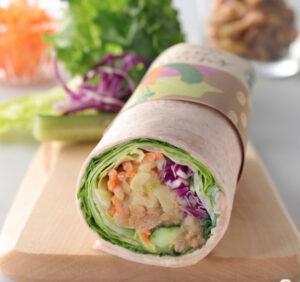 10種の野菜と5種のビーンズサラダラップ
