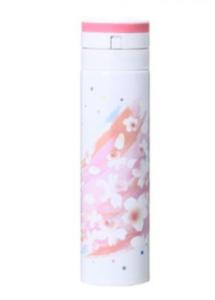 SAKURA2018ワンタッチステンレスボトルピンクブラッシュ